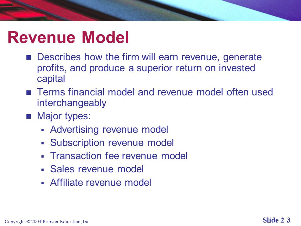 different types of e business models