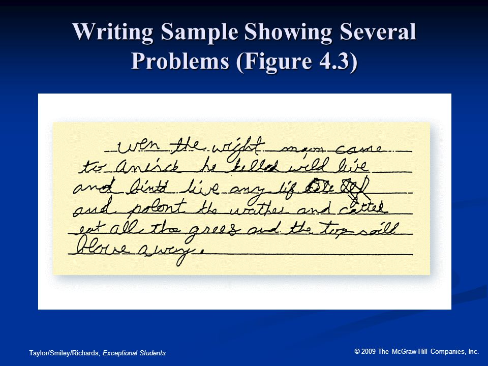 Writing Sample Showing Several Problems (Figure 4.3)