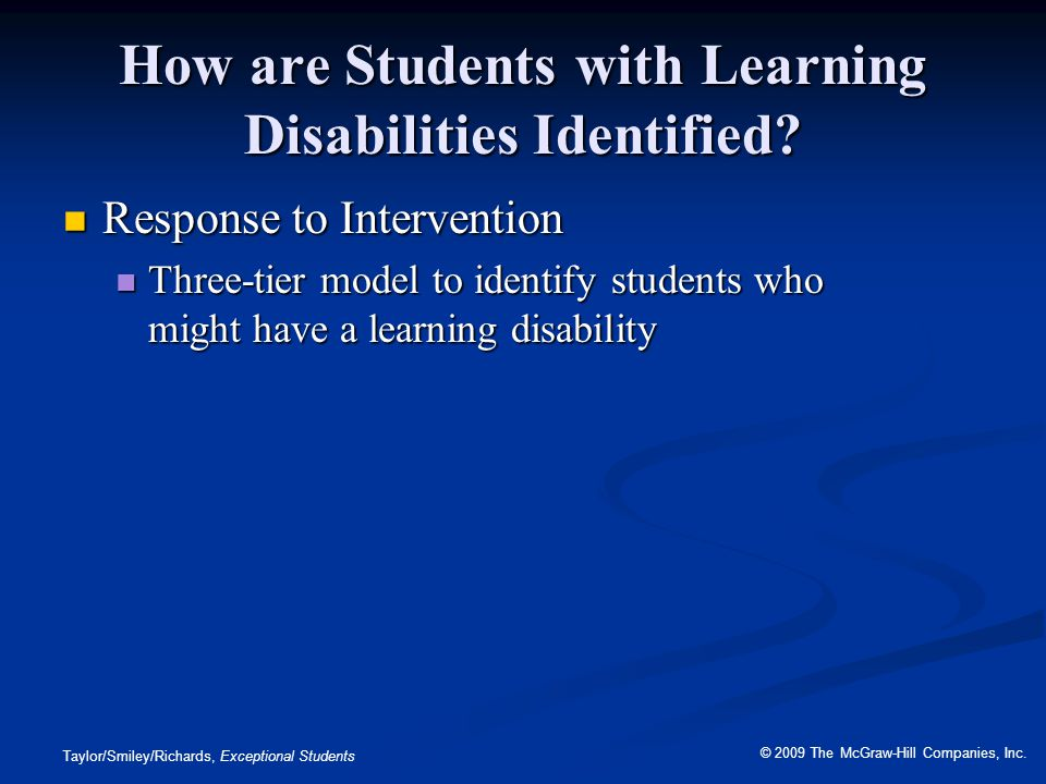 How are Students with Learning Disabilities Identified