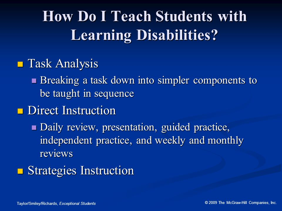 How Do I Teach Students with Learning Disabilities