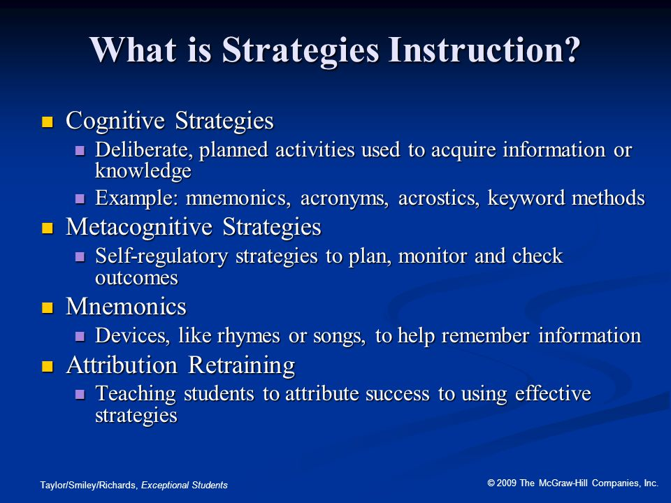 What is Strategies Instruction