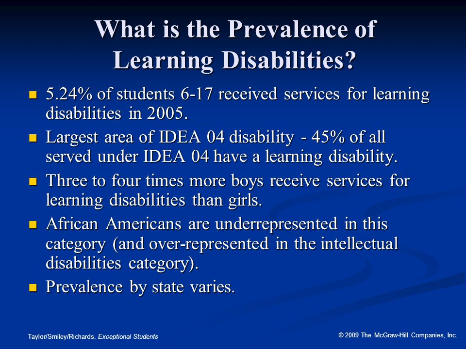 What is the Prevalence of Learning Disabilities