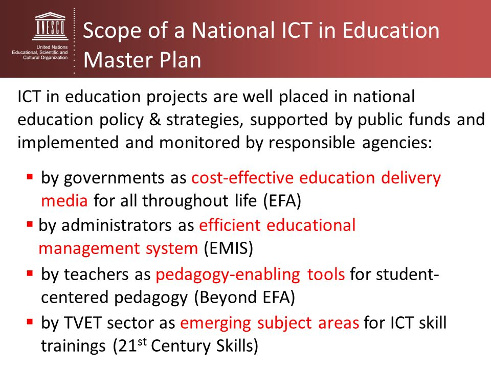 Ict In Education Policy Development And Review Ppt Download