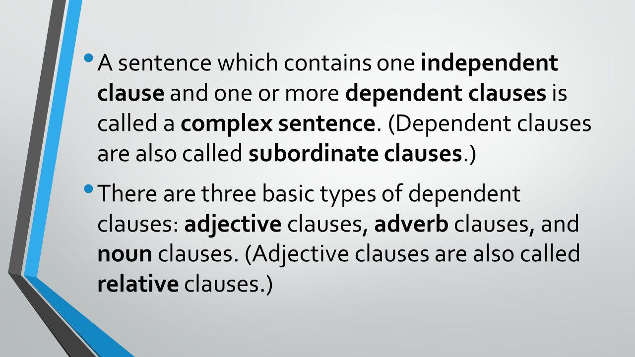 noun clause relative clause