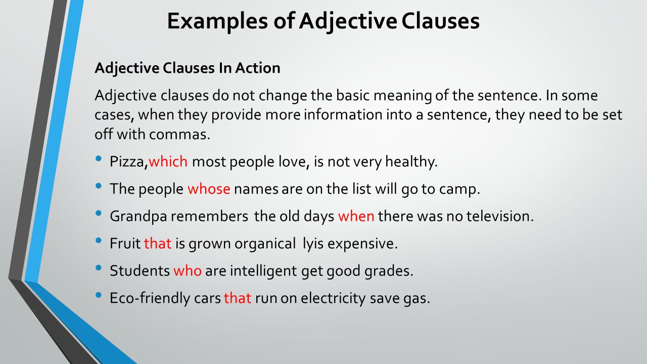 Grammar express clause analysis.