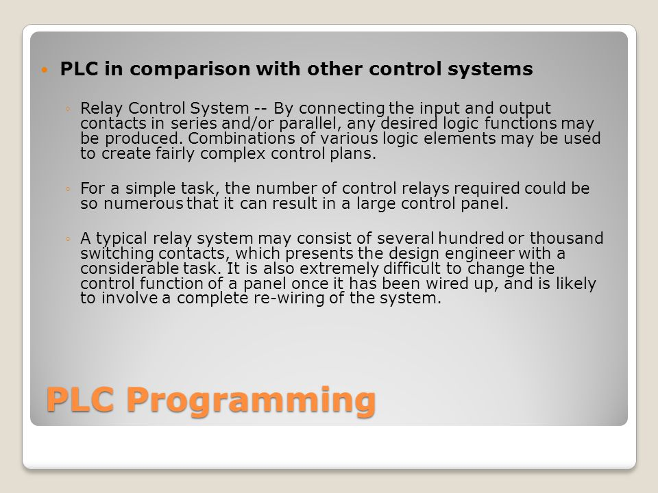 PLC Programming ECE 105 Industrial Electronics - ppt download