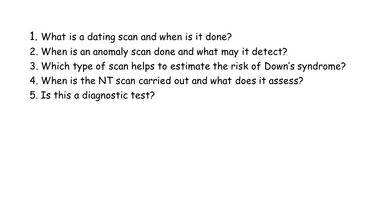 how a dating scan is done