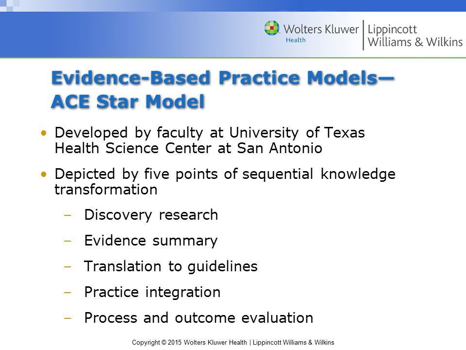 ace star model evidence based practice process