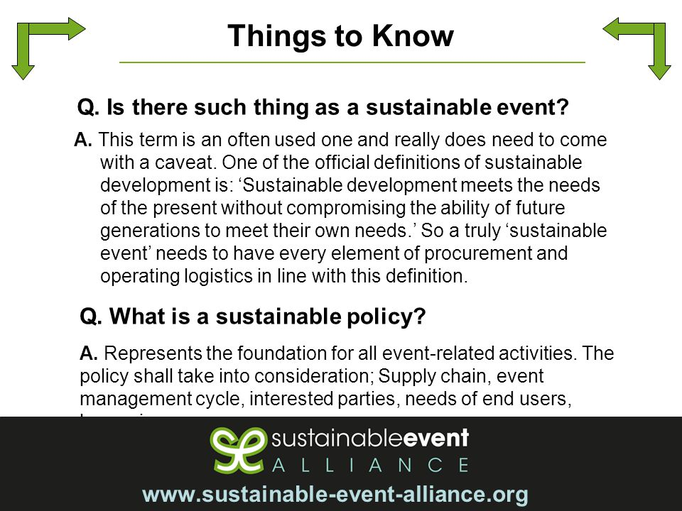 sustainable event management Sustainable festivals is an event and festival management consultancy specialising in providing essential management support services to enable your festival, event or venue to grow and develop.