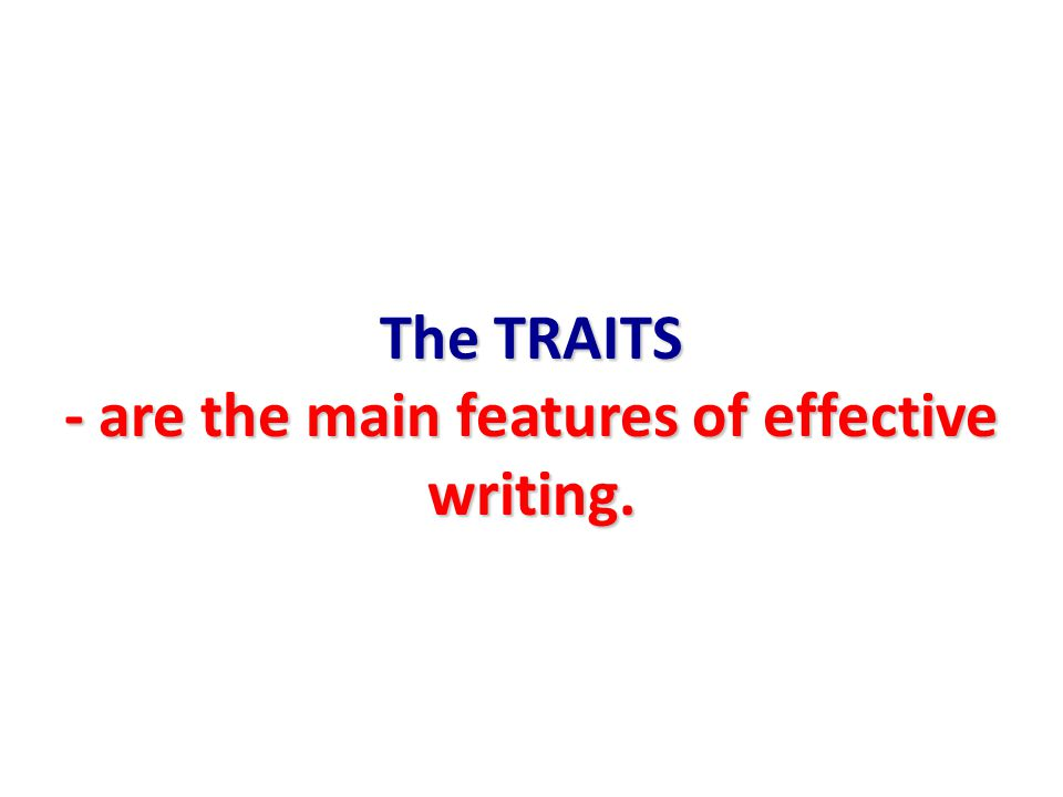 features of effective writing