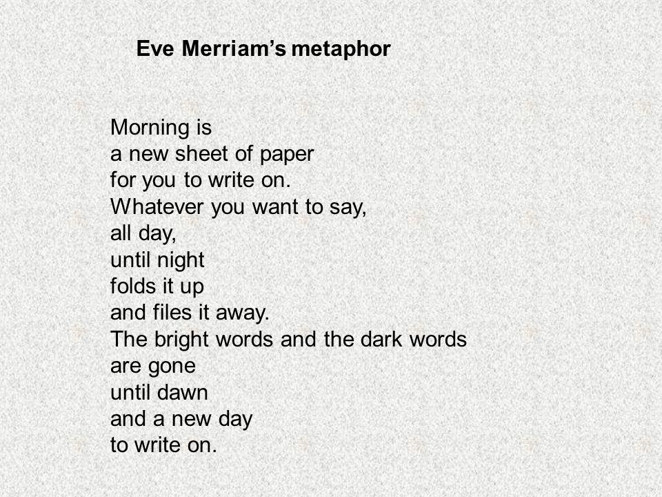 metaphor by eve merriam