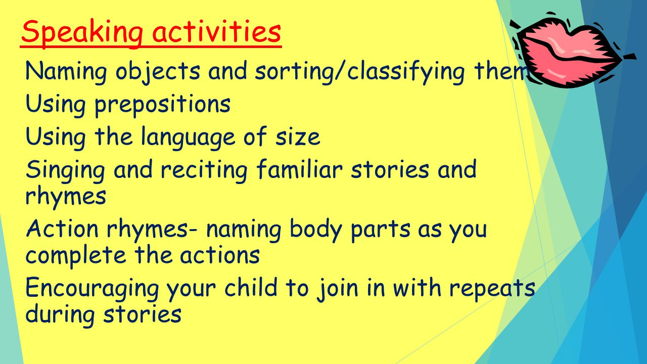 Speaking activities