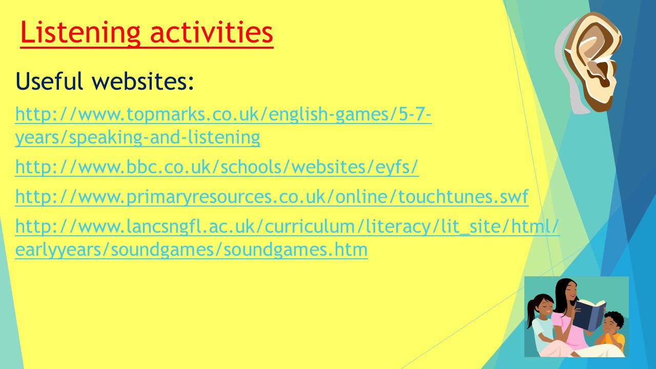 Listening activities Useful websites: