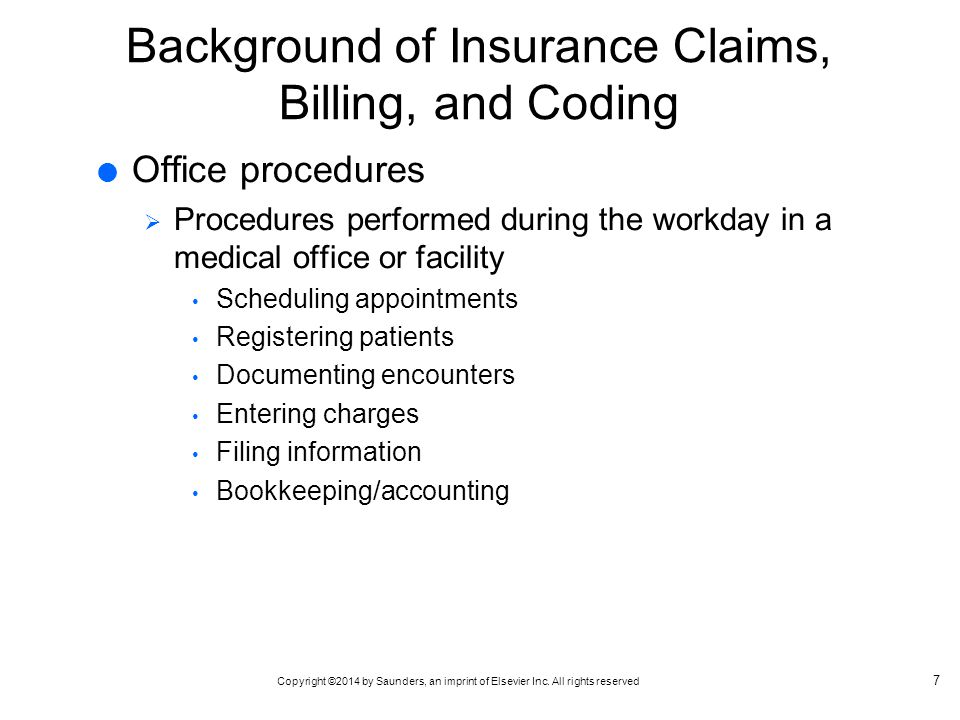 Insurance Handbook for the Medical Office - ppt video online download