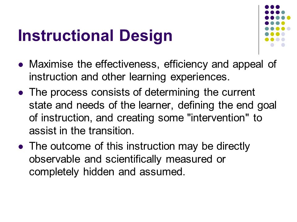 Instructional Design Ppt Video Online Download