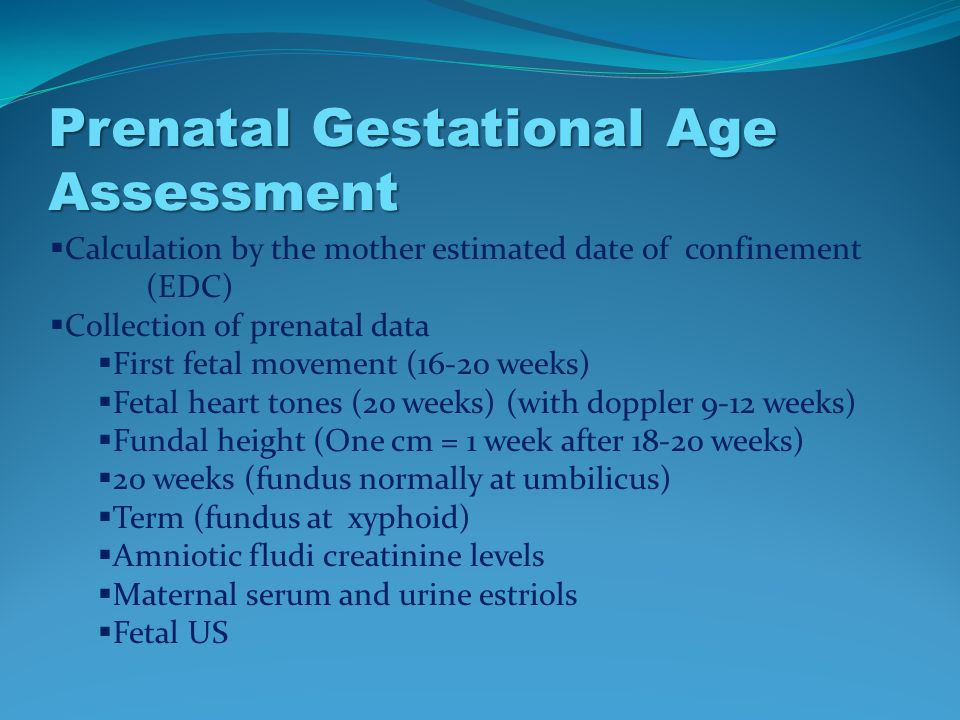 Neonatal Gestational Age Assessment - ppt video online download