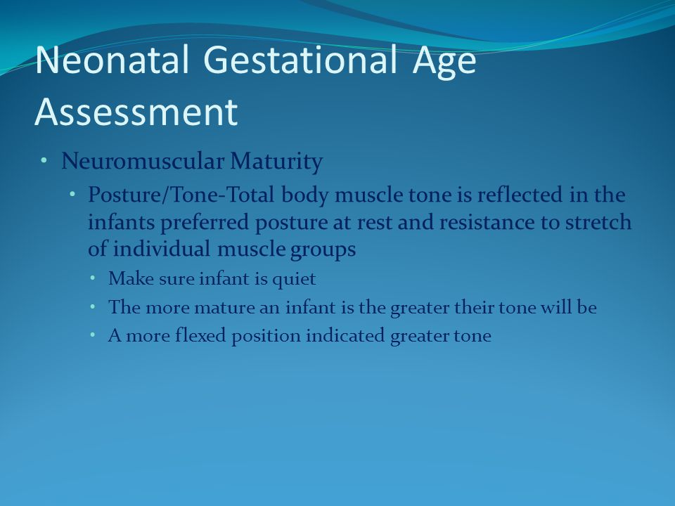 Assessment for mature age