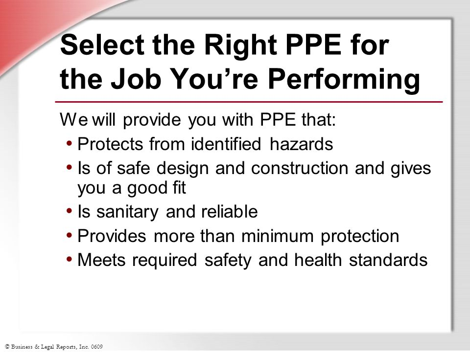 Select the Right PPE for the Job You're Performing