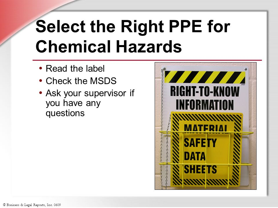 Select the Right PPE for Chemical Hazards