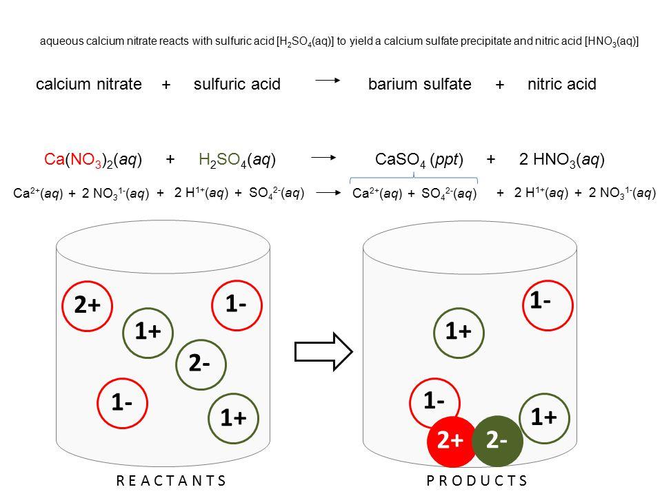 aqueous calcium nitrate and aqueous sodium phosphate