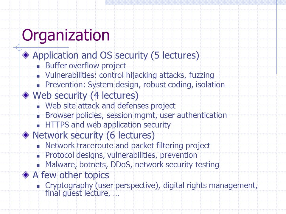 network security projects topics
