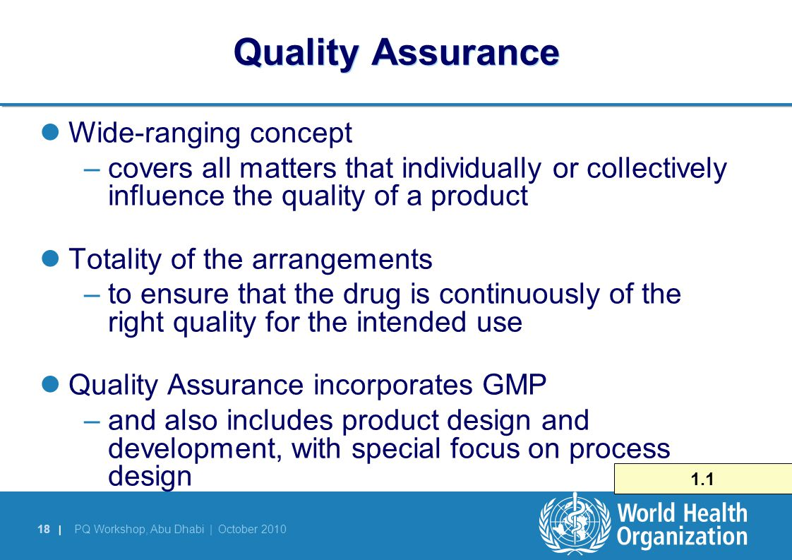 Quality Assurance Wide-ranging concept