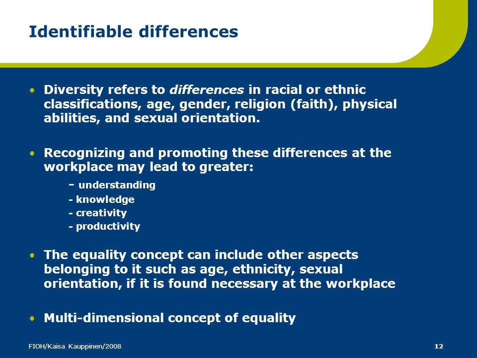 Identifiable differences