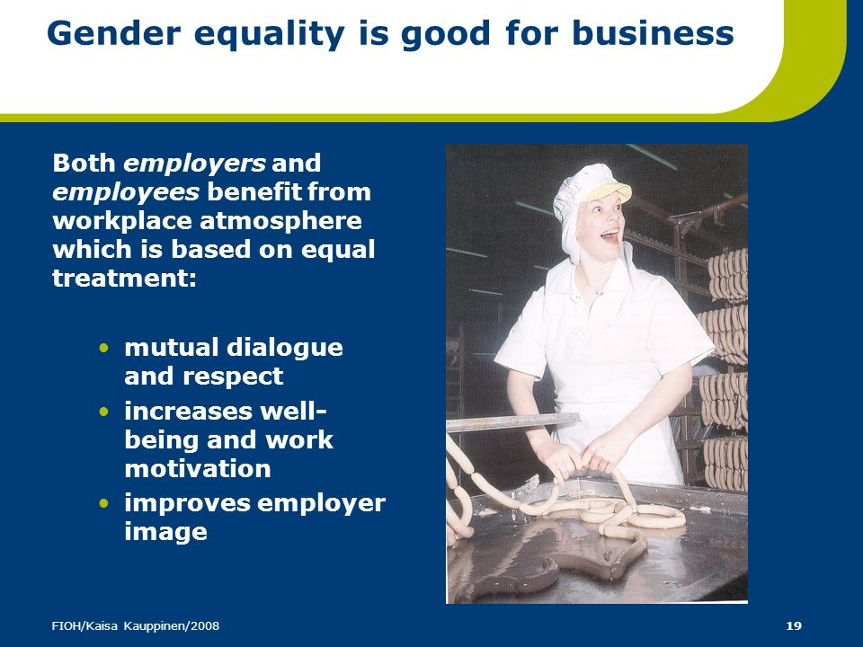 Gender equality is good for business
