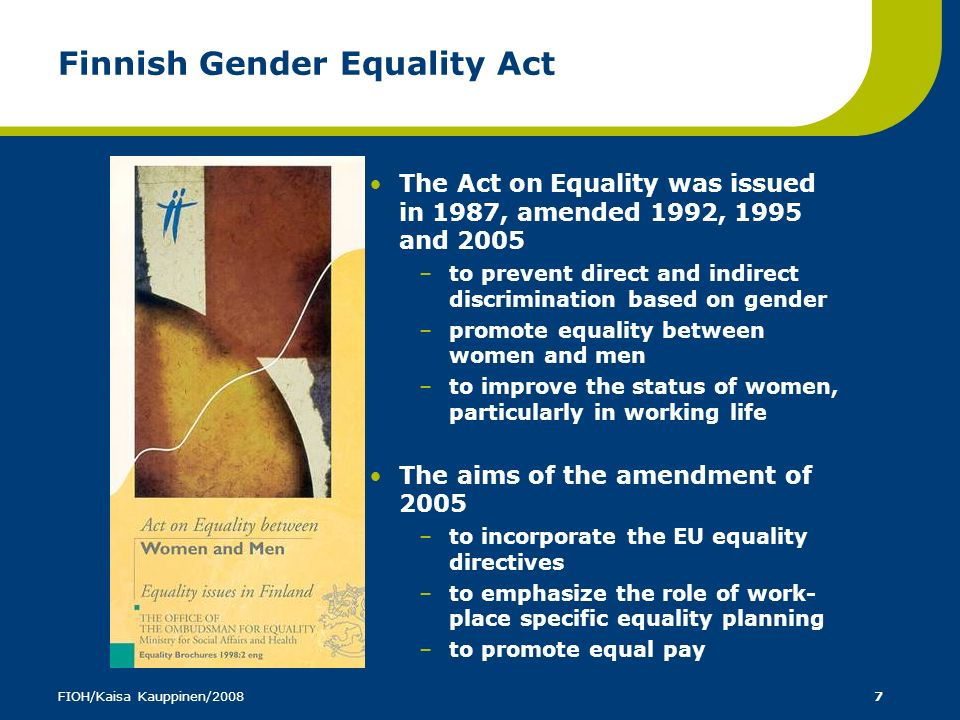 Finnish Gender Equality Act