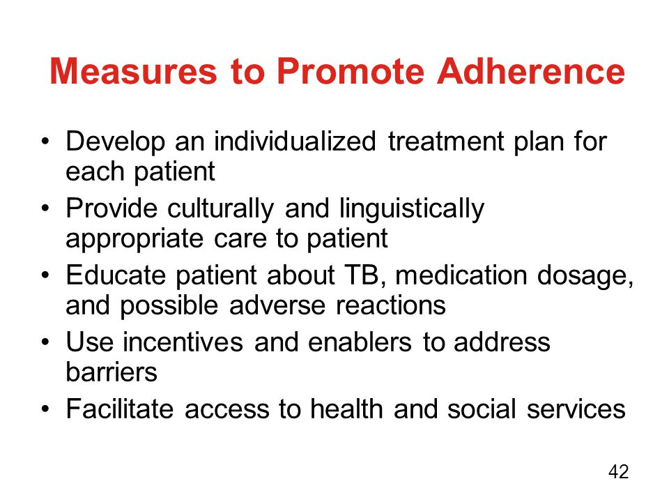 Measures to Promote Adherence