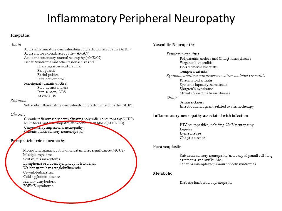 Inflammatory Peripheral Neuropathy
