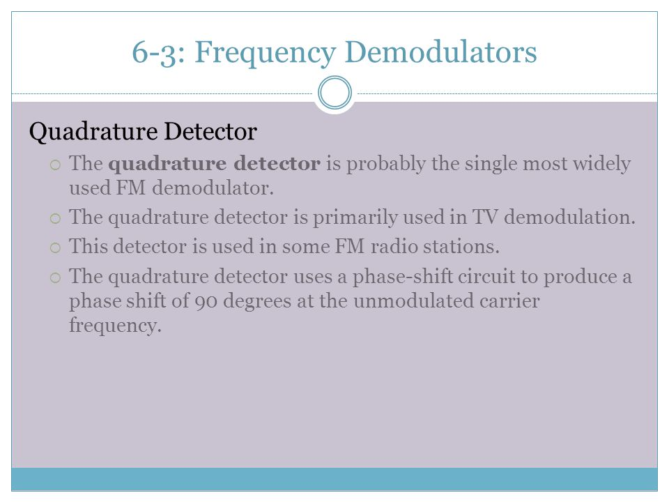 6-3: Frequency Demodulators