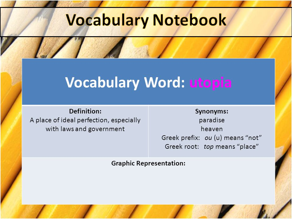 Vocabulary Notebook  - ppt video online download