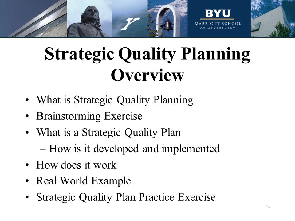 Strategic Quality Planning Ppt Download