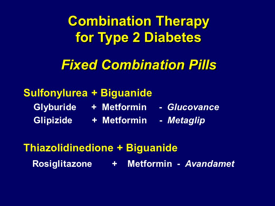 Combination Therapy for Type 2 Diabetes Fixed Combination Pills
