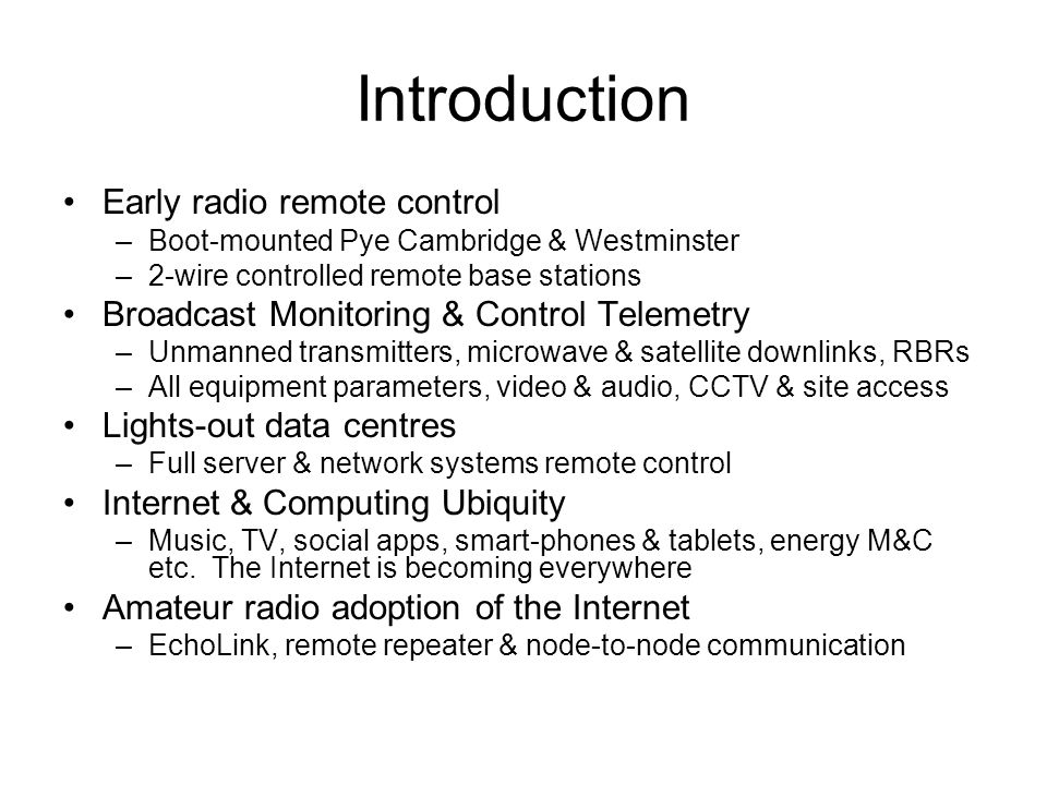 Remote Control & Operating for Amateur Radio - ppt download