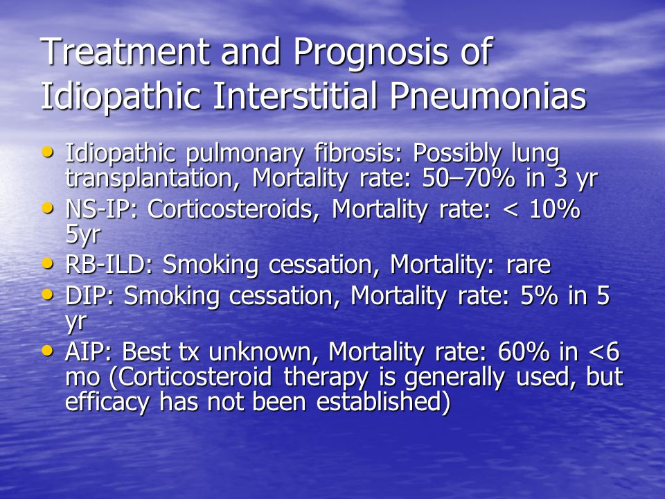 Treatment and Prognosis of Idiopathic Interstitial Pneumonias