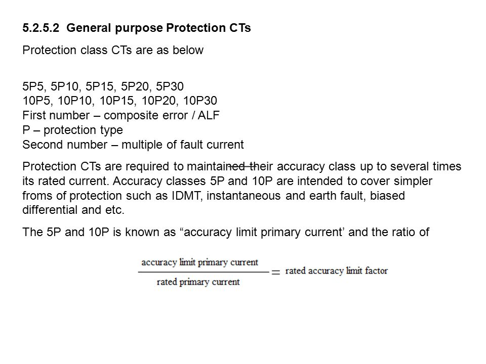 General purpose Protection CTs