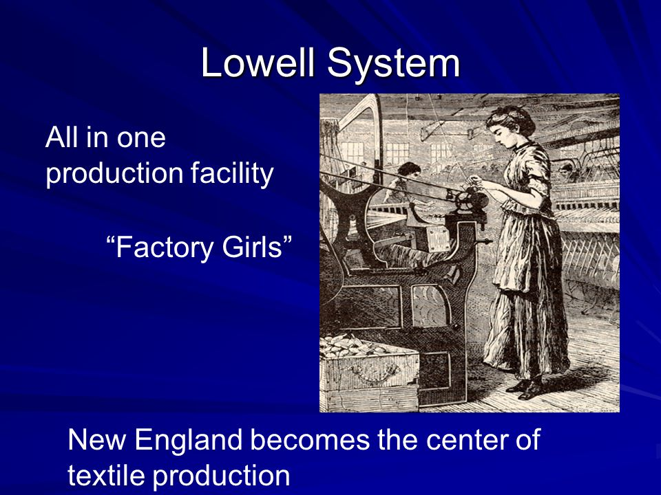 Lowell System All in one production facility Factory Girls