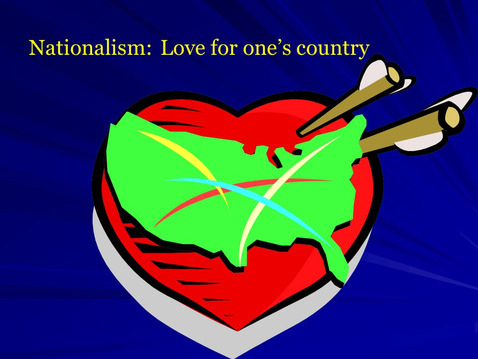 Nationalism: Love for one's country