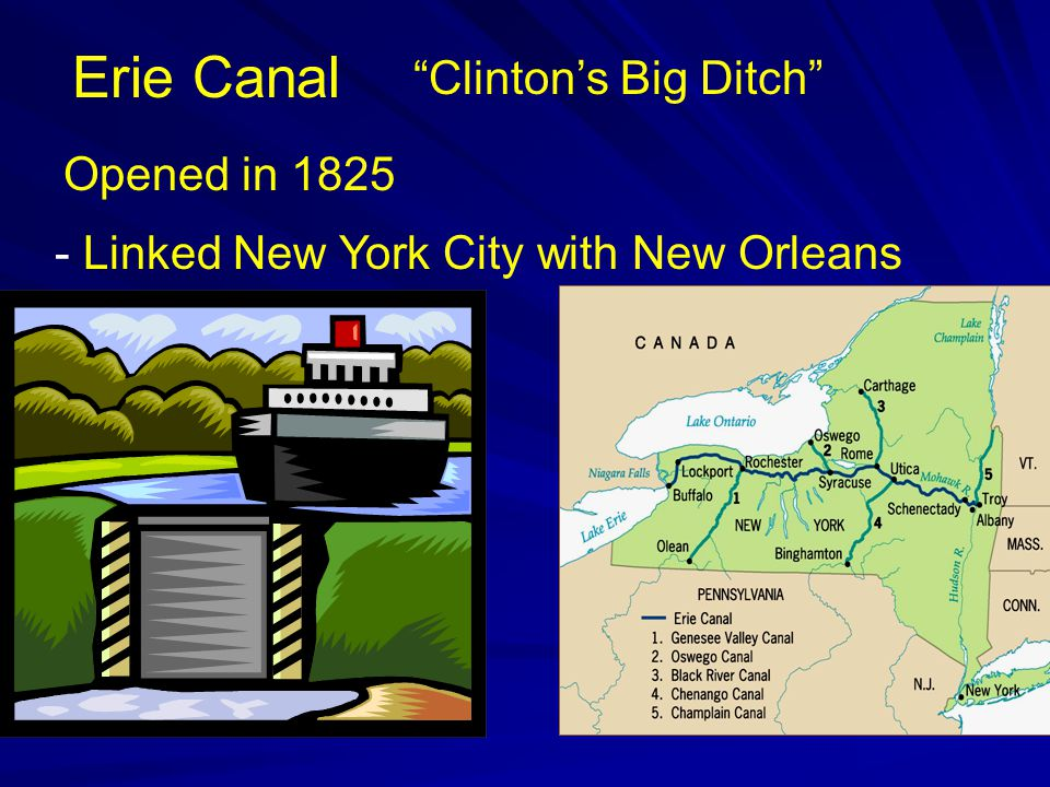 Erie Canal Clinton's Big Ditch Opened in 1825