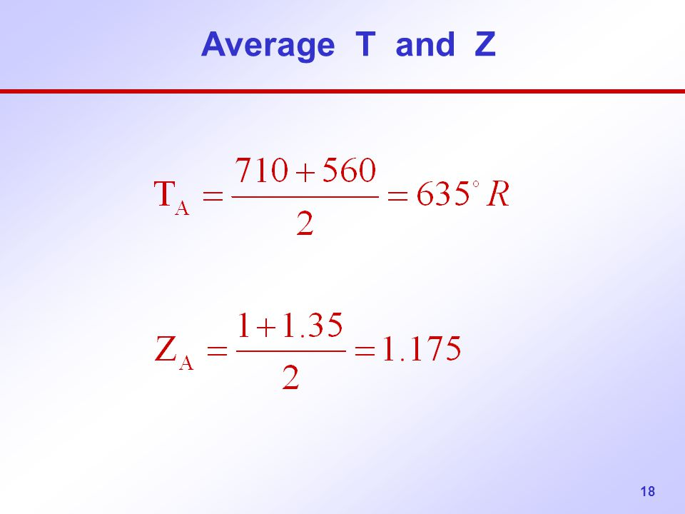 Average T and Z