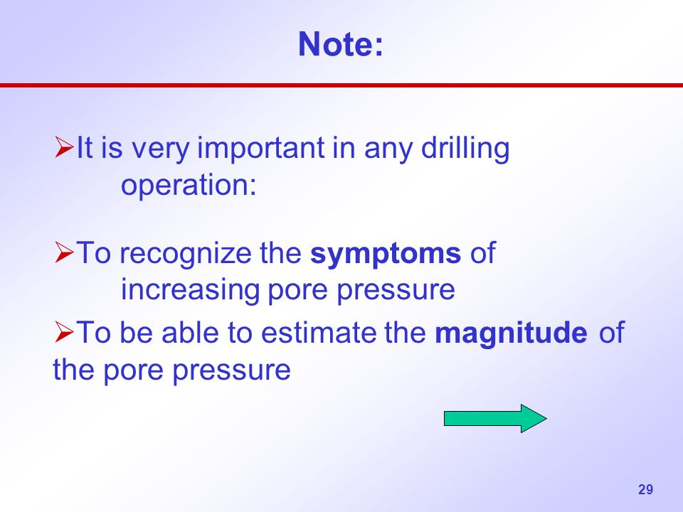 Note: It is very important in any drilling operation: