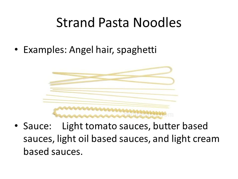 Different Types Of Pasta Ppt Download