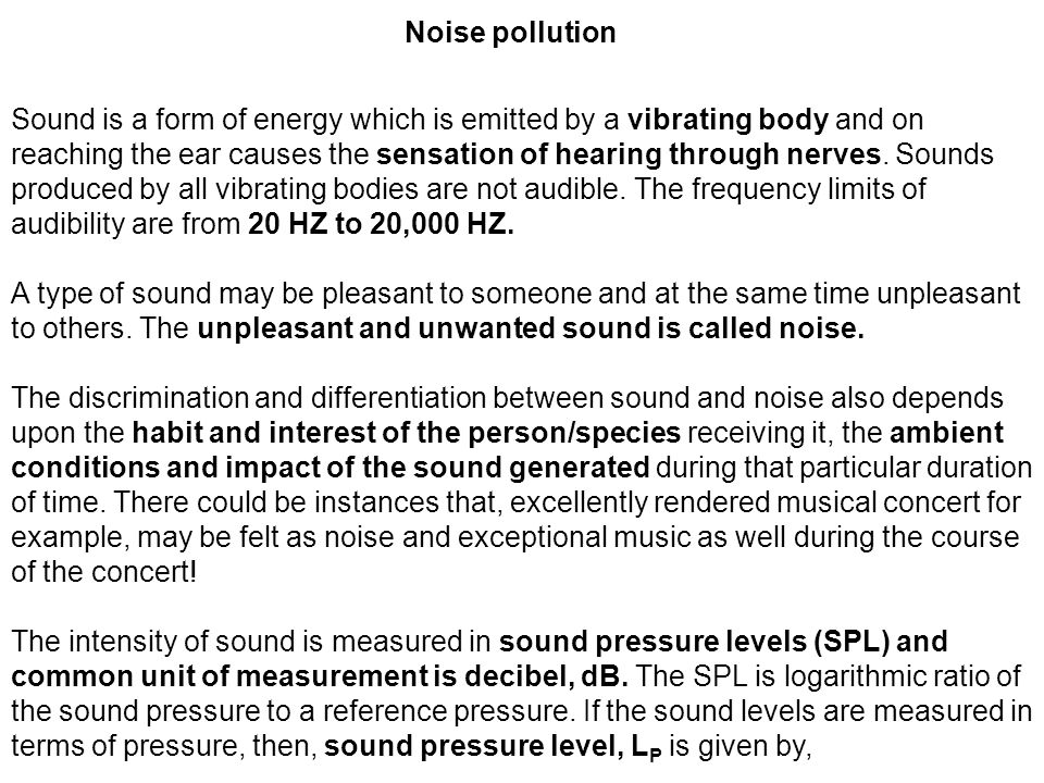 relevance of noise pollution