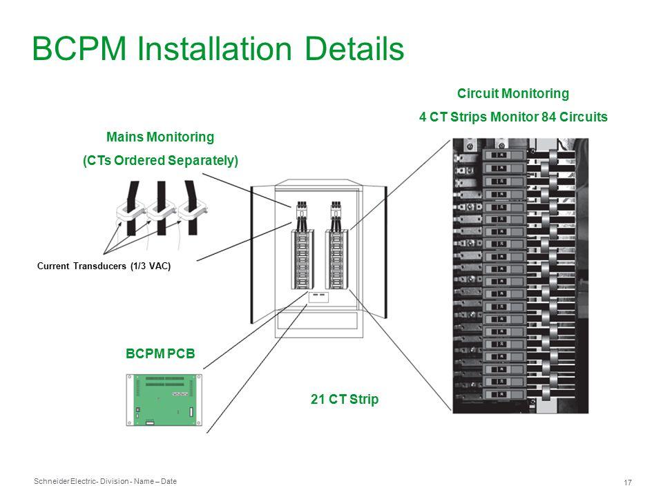 powerlogic branch circuit power meter bcpm ppt video online download rh slideplayer com Milbank Meter Socket Wiring Diagram 4S CT Wiring Diagrams