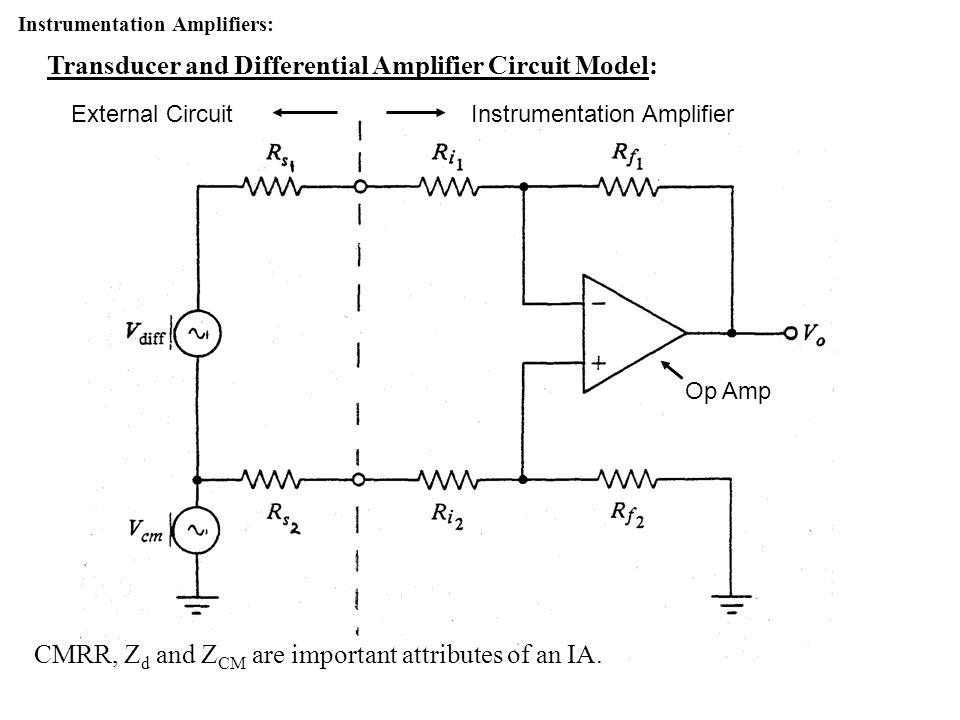 Transducer and Differential Amplifier Circuit Model: