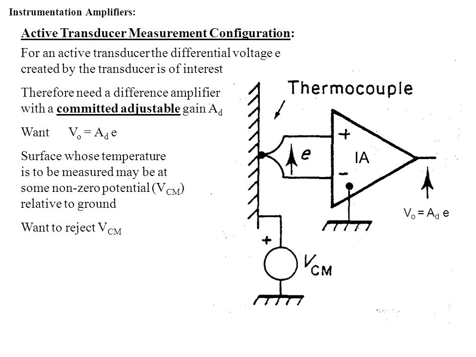 IA Active Transducer Measurement Configuration:
