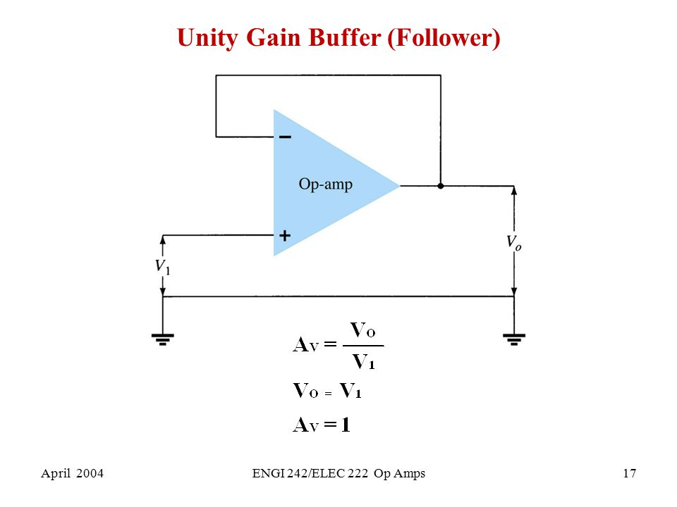 Unity Gain Buffer (Follower)