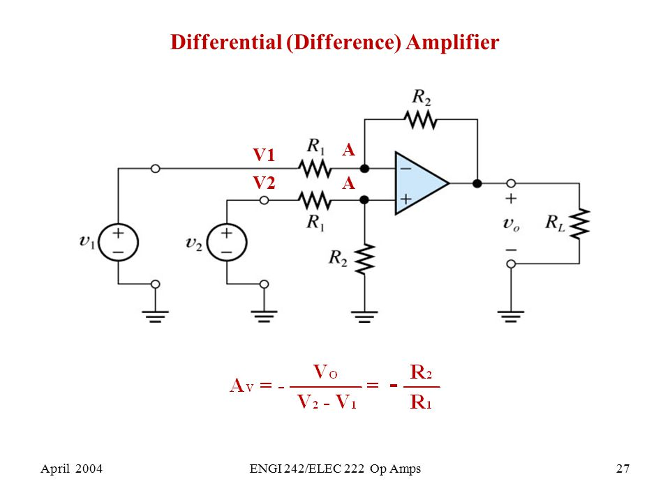 Differential (Difference) Amplifier